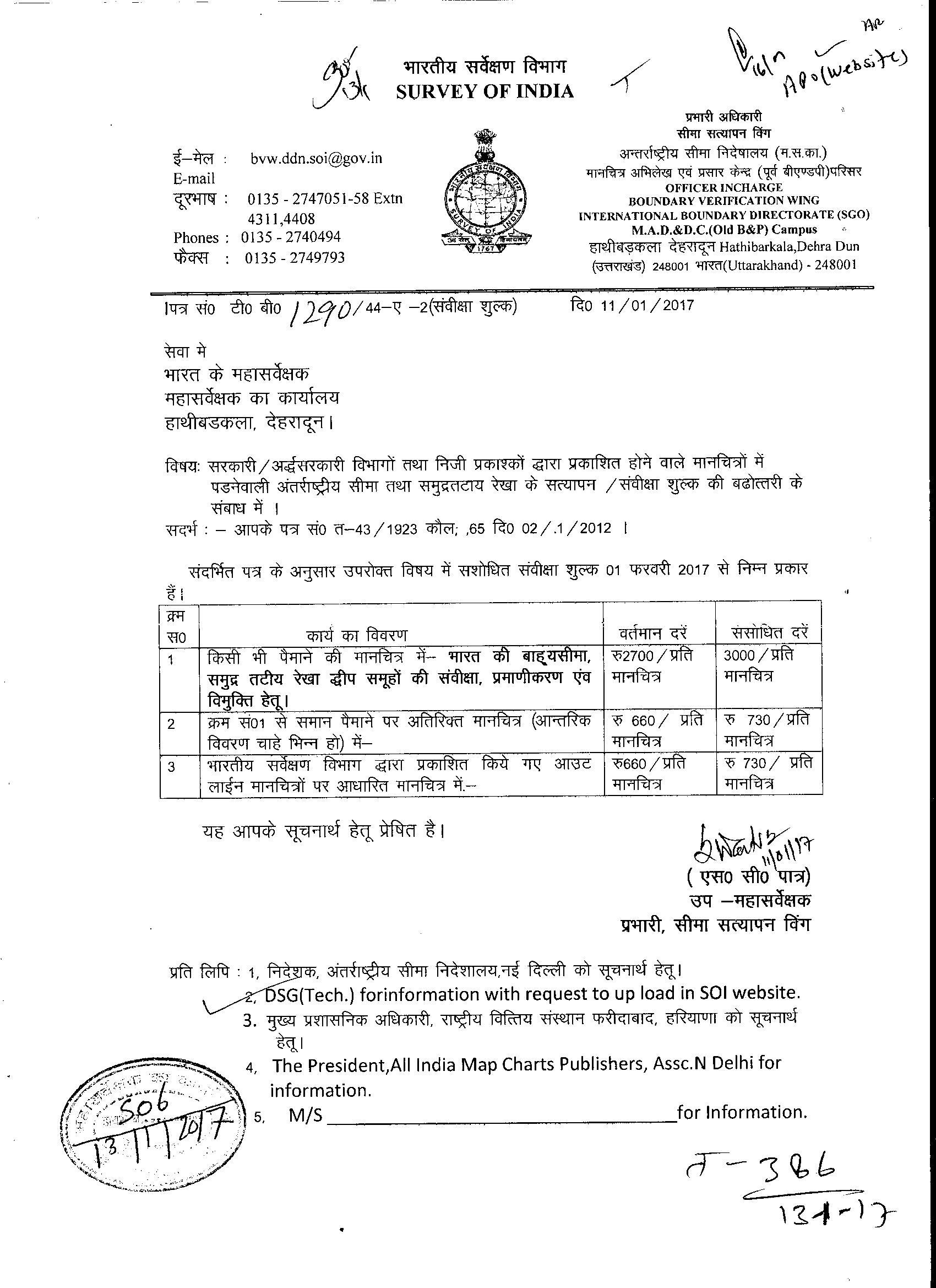 Gen Info: Survey of India
