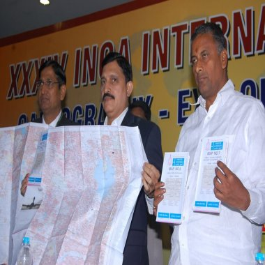 Greater Hyderabad Map released by Surveyor General of India with Hon'ble MInister ,DST