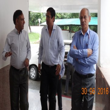 SGI Dr. S.S. Rao with Secretary DST and JS DST arrived at SGO on 30th June 2016